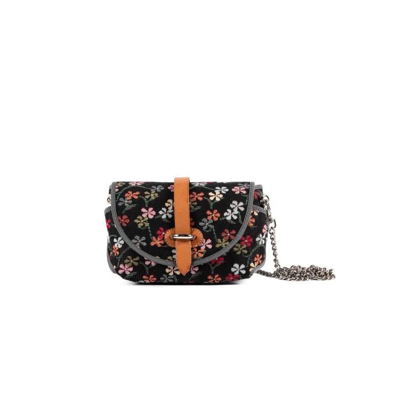 Rosy Bag Little Flowers Black